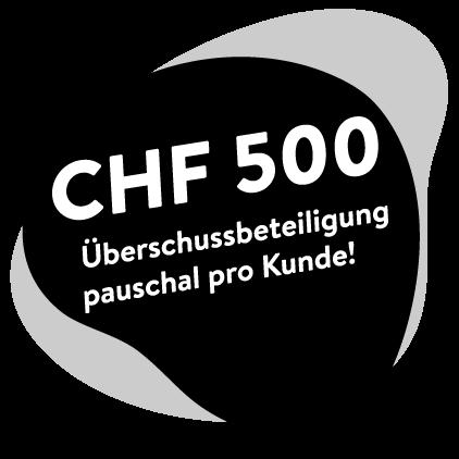500CHF Überschussbeteiligung